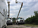 Altec A77TC, Articulating & Telescopic Material Handling Bucket Truck rear mounted on 2003 International 7400 T/A Flatbed/Utility Truck