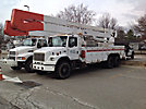 Altec A82T, Articulating & Telescopic Material Handling Bucket Truck, rear mounted on, 2000 Freightliner FL80 T/A Utility Truck