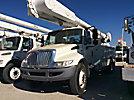 Altec AA55E-MH, Material Handling Bucket Truck rear mounted on 2009 International 4300 DuraStar Utility Truck