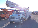 Altec AA55E-MH, Material Handling Bucket Truck rear mounted on 2010 Freightliner M2 106 Utility Truck