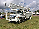 Altec AA55E-MH, Material Handling Bucket Truck rear mounted on 2012 Ford F750 Utility Truck