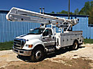 Altec AA55E-MH, Material Handling Bucket Truck rear mounted on 2015 Ford F750 Utility Truck