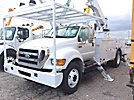 Altec AA55P, Bucket Truck rear mounted on 2008 Ford F750 Utility Truck