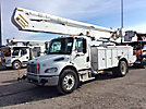 Altec AA55P, Material Handling Bucket Truck rear mounted on 2009 Freightliner M2 106 Utility Truck