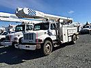 Altec AA755-MH, Material Handling Bucket Truck, rear mounted on, 1999 International 4900 Utility Truck