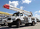 Altec AA755-MH, Material Handling Bucket Truck, rear mounted on, 2004 Freightliner M2 106 4x4 Utility Truck, wrecked