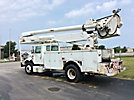 Altec AA755-MH, Material Handling Bucket Truck rear mounted on 1999 International 4700 Utility Truck