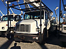 Altec AA755-MH, Material Handling Bucket Truck rear mounted on 2001 Freightliner FL70 Extended-Cab Utility Truck