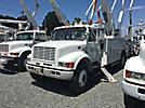 Altec AA755-MH, Material Handling Bucket Truck rear mounted on 2001 International 4700 Utility Truck