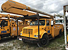 Altec AA755-MH, Material Handling Bucket Truck rear mounted on 2002 International 4900 Utility Truck
