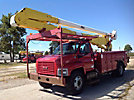 Altec AA755-MH, Material Handling Bucket Truck rear mounted on 2003 GMC C7500 Utility Truck