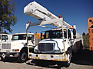 Altec AA755-MH, Material Handling Bucket Truck rear mounted on 2003 International 4300 Utility Truck