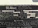 Altec AA755-MH, Material Handling Bucket Truck rear mounted on 2004 International 4300 Utility Truck