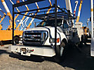 Altec AA755-MH, Material Handling Bucket Truck rear mounted on 2006 Ford F750 Utility Truck