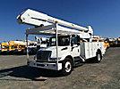 Altec AA755-MH, Material Handling Bucket Truck rear mounted on 2007 International 4300 Utility Truck