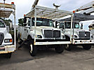 Altec AA755-MH, Material Handling Bucket Truck rear mounted on 2007 International 7300 4x4 Utility Truck