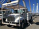 Altec AA755-MH, Material Handling Bucket Truck rear mounted on 2007 Peterbilt 335 Utility Truck