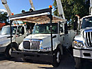 Altec AA755-MH, Material Handling Bucket Truck rear mounted on 2009 International 4300 Utility Truck
