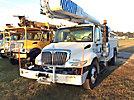 Altec AA755-MH, Material Handling Bucket Truck rear mounted on 2009 International 7300 4x4 Utility Truck