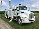 Altec AA755-MH, Material Handling Bucket Truck rear mounted on 2011 Kenworth T300 Utility Truck