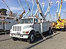 Altec AA755-MH, Material Handling Bucket rear mounted on 2001 International 4700 Utility Truck