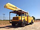 Altec AA755-MH, Material Handling Bucket rear mounted on 2001 International 4900 Utility Truck