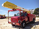Altec AA755-P, Bucket Truck rear mounted on 2003 GMC C7500 Utility Truck