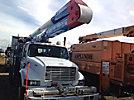 Altec AA755L, Material Handling Bucket Truck, rear mounted on, 2002 International 4900 T/A Utility Truck