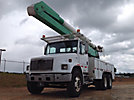 Altec AA755L, Material Handling Bucket Truck rear mounted on 2000 Freightliner FL80 T/A Utility Truck