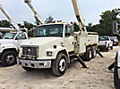 Altec AA755L, Material Handling Bucket Truck rear mounted on 2001 Freightliner FL80 T/A Utility Truck