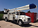 Altec AA755L-MH, Material Handling Bucket Truck, rear mounted on, 1998 Freightliner FL80 Utility Truck