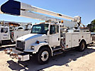 Altec AA755L-MH, Material Handling Bucket Truck, rear mounted on, 2001 Freightliner FL80 Utility Truck
