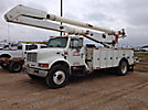 Altec AA755L-MH, Material Handling Bucket Truck, rear mounted on, 2001 International 4700 Utility Truck
