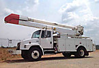 Altec AA755L-MH, Material Handling Bucket Truck, rear mounted on, 2002 Freightliner FL80 Utility Truck