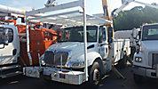Altec AA755L-MH, Material Handling Bucket Truck, rear mounted on, 2002 International 4300 Utility Truck