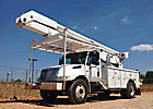 Altec AA755L-MH, Material Handling Bucket Truck, rear mounted on, 2003 International 4300 Utility Truck