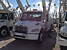Altec AA755L-MH, Material Handling Bucket Truck, rear mounted on, 2006 Freightliner FL80 Utility Truck