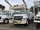 Altec AA755L-MH, Material Handling Bucket Truck rear mounted on 2007 Ford F750 Utility Truck