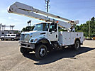 Altec AA755L-MH, Over-Center Material Handling Bucket Truck rear mounted on 2006 International 7300 4x4 Utility Truck