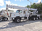 Altec AC26-95S, Hydraulic Crane, rear mounted on, 2005 International 5600I 6x6 Flatbed Truck