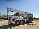 Altec AC38-103S, Hydraulic Crane, rear mounted on, 2007 International 5600i Tri-Axle Flatbed Truck