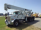 Altec AC38-127S, Hydraulic Crane, rear mounted on 2011 Peterbilt 365 Tri-Axle Flatbed Truck,