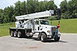 Altec AC38-127S, Hydraulic Crane rear mounted on 2014 Peterbilt 365 Tri-Axle Flatbed Truck