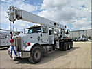 Altec AC38-127S-EJ, Hydraulic Crane, rear mounted on, 2011 Peterbilt 365 Tri-Axle Flatbed Truck