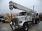 Altec AC38-127S-EJ, Hydraulic Crane, rear mounted on, 2012 Peterbilt 365 Tri-Axle Flatbed Truck