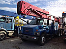 Altec AH100, Articulating & Telescopic Material Handling Bucket Truck rear mounted on 2004 GMC C8500 T/A Flatbed/Utility Truck