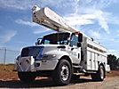 Altec AM50-MH, Over-Center Material Handling Bucket Truck rear mounted on 2003 International 4300 Utility Truck