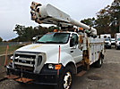 Altec AM50-MH, Over-Center Material Handling Bucket Truck rear mounted on 2005 Ford F750 Utility Truck