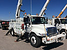 Altec AM55, Over-Center Material Handling Bucket Truck rear mounted on 2004 International 4400 Utility Truck