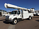 Altec AM55, Over-Center Material Handling Bucket Truck rear mounted on 2005 International 4300 Utility Truck